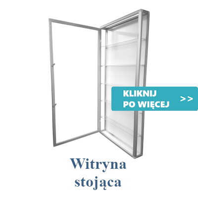 witryny szklane stojące